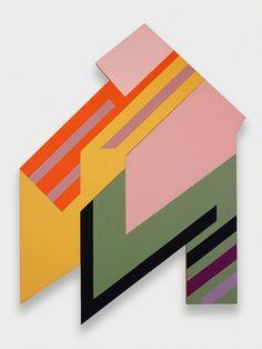 transistoradio:  Frank Stella (b.1936), Brzozdowce I (1973), felt, fabric, and acrylic on panel and plywood, 228.6 x 304.8cm. Via Artsy.