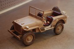 WWII Military Jeep by WoodScrap (11/20/2012)  View details here: http://lumberjocks.com/projects/74421