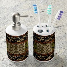 Vintage African Royalty Abstract Design Bathroom Set - modern gifts cyo gift ideas personalize