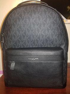 5c2f63551bb9 Michael Kors Men's Russel Leather Signature Logo Black Sling Pack Bag Black  #fashion #clothing