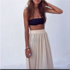Bando top & Maxi.  LOVE