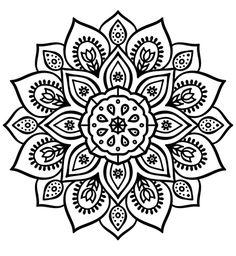 Flower Mandalas Painting, Mandalas Drawing, Mandala Coloring Pages, Coloring Book Pages, Inspiration Tattoo, Art Texture, Flower Henna, Mandala Dots, Zen Art