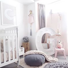 This room. Holy smack! The most perfect whimsical girls room I've seen by @outwithaudrey currently crushing over here  and that floor cushion keeps teasing me. Everywhere I look I'm seeing one. Think I'm going to have to get one  [ Pictured: our wall hanger to the right in raw ]  #childrensinteriors #girlsinteriors #interiors #thetimbatrend #interiordesign #whimsical #dreamy #pastel