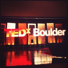 Ted X Boulder - 2013. Amazing!