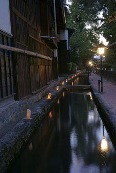 Lantern festival of Hida, Gifu, Japan
