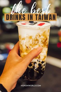 Looking for the best Taiwanese drinks? This list of 12 delicious Taiwan drinks sets out the very best beverages to try during your trip - from bubble milk tea and brown sugar milk tea to salted cream cheese tea and much more! taiwan drinks | taiwan drink bubble tea | boba tea | bubble milk tea | taiwanese drinks Refreshing Drinks, Fun Drinks, Beverages, Coconut Jelly, Smoothie Shop, Bubble Milk Tea, Fruit Tea, Oolong Tea, Foodie Travel