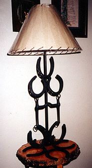 Western Handcrafted Horseshoe Lamps 2