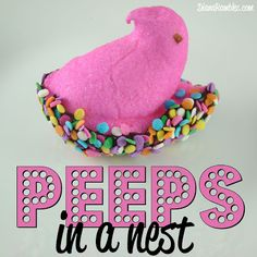 Peeps in a Nest from DianaRambles.com @Diana Avery Avery Rambles #Easter #recipe #chocolate #sprinkles