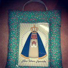 Capelinha em tecido Nossa Senhora Aparecida!