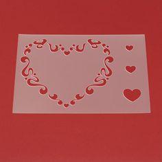 Schablone Herz Ornament mit Herzen - MA25 von Lunatik-Style via dawanda.com