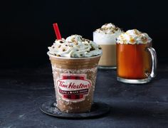 Tim Hortons 2015 Fall Specials Include Pumpkin Pie Latte and New Apple Pie Fritter Tim Hortons, Menu Items, Fritters, Apple Pie, Latte, Ice Cream, Pudding, Pumpkin, Autumn