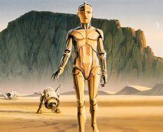 Juxtapoz Magazine - Best of Original Star Wars Concept Illustrations by Ralph McQuarrie Ralph Mcquarrie, Star Wars Concept Art, Star Wars Art, Star Trek, Original Trilogy, Art Original, Cthulhu, Science Fiction, C3po And R2d2