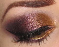 Glitter is my crack...: Copper, Bronze, Purple and Plum Eye Makeup Tutorial