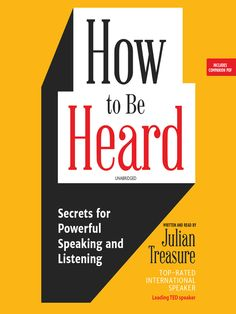 How to Be Heard: Secrets for Powerful Speaking and Listening (Audiobook) Amazon Audible, The Power Of Introverts, Test Guide, Ted Speakers, Good New Books, Psychology Books, Cognitive Behavioral Therapy, Stop Talking, Self Development