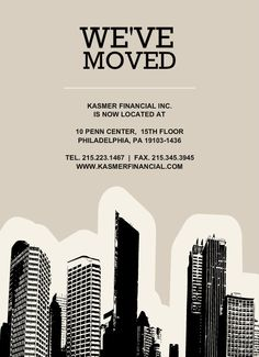 we've moved office offices- announcement - Google Search