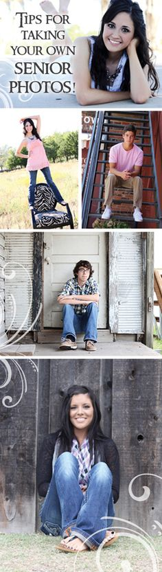 Tips for taking your own senior photos - DIY senior pictures - Photographers are really expensive. maybe I'll have my parents take my senior portraits Senior Photos, Photography Senior Pictures, Senior Girl Poses, Senior Girls, Love Photography, Senior Portraits, Portrait Photography, Product Photography, Fotografia Tutorial