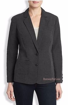 New $129 LUCKY BRAND JEANS Womens Ladies Medium Washed Out Black Linen Blazer #LuckyBrand #Blazer #Lucky #Brand #Washed #Out #black #blazer #linen