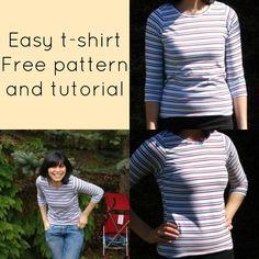 #free t-shirt pattern