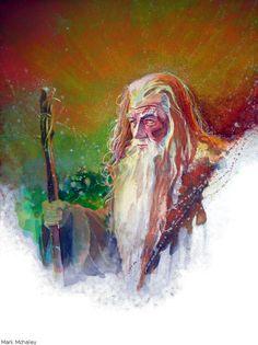 Gandalf by Mark Mchaley on deviantart