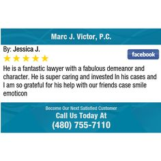 He is a fantastic lawyer with a fabulous demeanor and character. He is super caring and...
