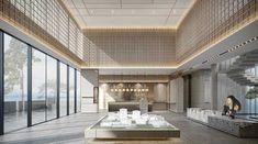 Lobby Interior, Office Interior Design, Office Interiors, Interior Design Living Room, Modern Interior, Interior Decorating, Matrix Design, Hotel Lobby Design, Reception Design