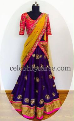 Mirror Work Half Saree