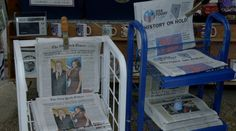 New York Times and USA Today newspapers in VEEP: THE MORNING AFTER (2016) @nytimes @usatoday New York Times, Ny Times, Comedy Tv Series, Usa Today, Entertaining, History, Historia, Funny