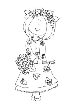 coloring booktina coloring book bonnie jones picasa webalbums digi stamps pinterest colour book and picasa - Flower Girl Coloring Book