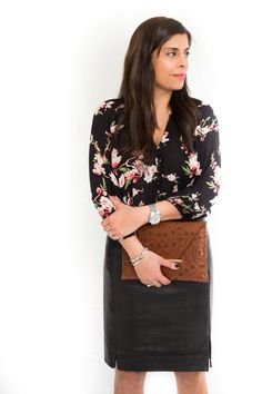 STYLE'N   Naina Singla - fashion stylist and style expert - Blog - Outfit-Floral + Leather