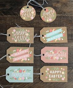 Printable Easter gift tags.