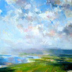"drifting clouds by craig mooney Oil ~ 48"" x 48"""