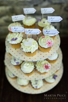 Wedding day cup cakes by Martin Price Photography www.martinpricephotography.co.uk