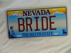 Nevada Novelty License Plate Bride