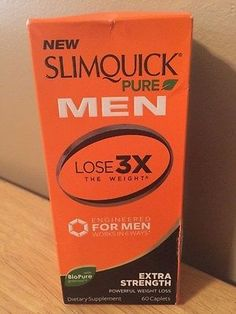 Slimquick Pure Men Extra Strength Powerful Weight Loss 60 Caplets Exp 05/2017 Weight Loss Supplements, Strength, Pure Products, Electric Power