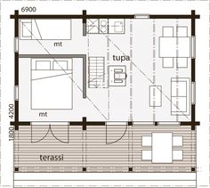 Nalle 30B Guest Cabin, Tiny House, Floor Plans, Cottage, Home, Cottages, Ad Home, Tiny Houses, Homes