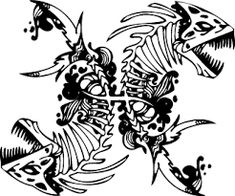 Image result for fish skeleton tattoo