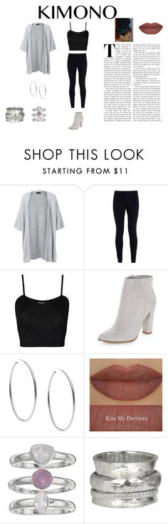 """Greyscale Kimono Outfit"" by artificially on Polyvore featuring Eskandar, NIKE, WearAll, New Look, Michael Kors, Derriére, Jennifer Lopez, MeditationRings and kimonos"