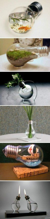 The humble light globe...can turn into a vase, candle...the possibilities are endless