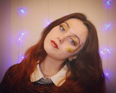 There's never a dull day when you're living with art students. Today I became a glittery narrator for @rufaaro.  #glitter #Film #lookingridiculous