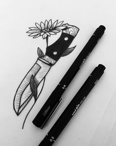 Simple knife drawing// Zecaevollucao Tattoo (@zecaevollucao) on Instagram