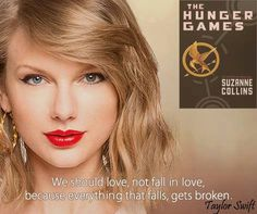 "#TaylorSwift released video for 'Bad Blood' at Billboard Music Awards. She is on #1989WorldTour Kicked off in Japan on May 2015. #Bookedean tells to its readers ##TheHungerGames by ###SuzanneCollins is the favorite book of Taylor. # ""The Hunger Games,"" a fight to the death on live TV. Sixteen-year-old #KatnissEverdeen, who lives alone with her mother and younger sister, regards it as a death sentence when she is forced to represent her district in the Games. The terrain, rules, and level of… Suzanne Collins, Bad Blood, Katniss Everdeen, Billboard Music Awards, Live Tv, Hunger Games, Taylor Swift, Audi, Death"
