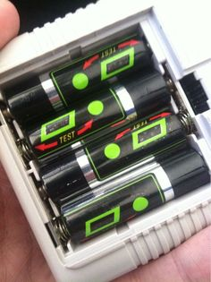 "Hurting your fingers trying to ""test"" the batteries."