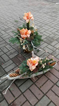 Beautiful Christmas piece – Famous Last Words Christmas Flower Arrangements, Funeral Flower Arrangements, Christmas Flowers, Funeral Flowers, Floral Arrangements, Black Flowers, Big Flowers, Beautiful Flowers, Flower Decorations