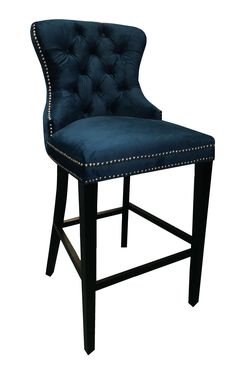 Lowest price on Abbyson Living Adrian Tufted Barstool in Navy Blue BR-BS-2521228-BLU. Shop today!