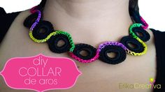 Collar de aros de plástico/Water bottle rings necklace