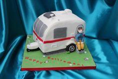 Touring Caravan Retirement Cake   Blueberry Cakes