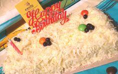 Sponge Cake Jadul Kue Ulang Tahun Tabur Keju