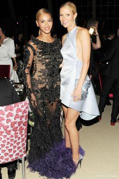 Pin for Later: From the '90s to Now, See Gwyneth Paltrow With Her Famous Friends  She met up with her BFF Beyoncé inside the Met Gala reception in May 2012.