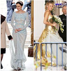 Gossip Girl Season 6 Finale: Blair Waldorf & Serena van der Woodsen's Wedding Dresses | Style VanityLove the blue dress absolutely beautiful! not so much the gold!