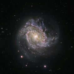 #black #bright #cosmos #dust #galaxy #glow #hubble #messier 83 #science #shine #southern pinwheel #space #starry #stars #telescope #universe